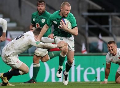 Keith Earls returned to the Ireland team last weekend on London.