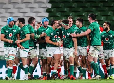 Ireland beat Wales 32-9 last night in Dublin.
