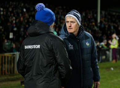 Head-to-head: John Kiely and Liam Cahill.