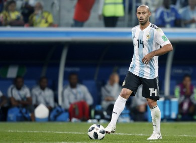 He is Argentina's most-capped player of all-time.