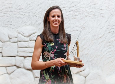 Orla Cotter with her player of the match award after the 2018 All-Ireland final.