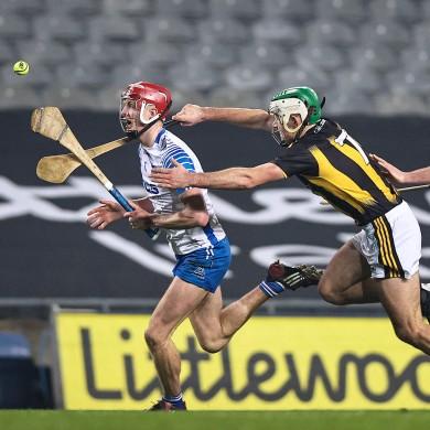 Calum Lyons taking on the Kilkenny defence.