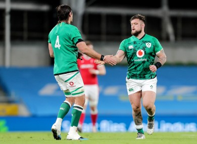 Quinn Roux and Andrew Porter will team up in Ireland's scrum.