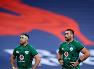 Rob Herring and CJ Stander at Stade de France.