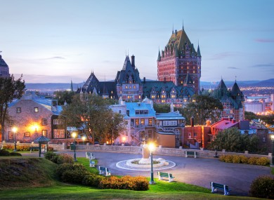File photo - Frontenac Castle in Old Quebec city