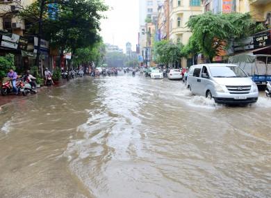 Floods in Hanoi, Vietnam in May 2016.