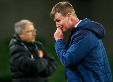 Stephen Kenny after the game.