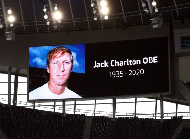 Jack Charlton passed away earlier this year.