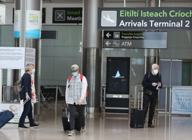 The flights will be operated by Irish airlines. File photo.