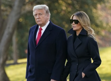 President Donald Trump and his wife Melania