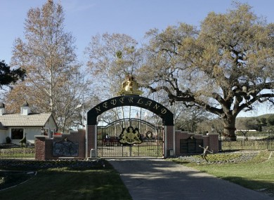 File photo. Neverland Ranch in California