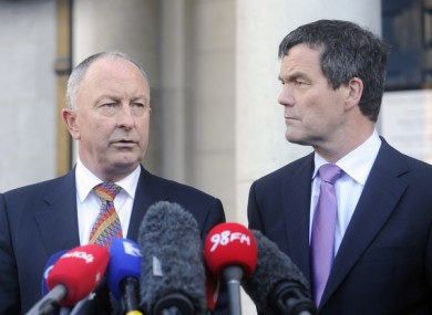 Dermot Ahern and Noel Dempsey denied knowledge of an impending bailout in November 2010.