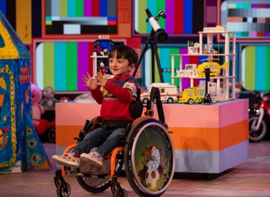 6-year-old Adam King on the Late Late Toy Show last Friday.