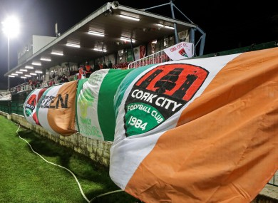 Cork City flags at Turner's Cross.