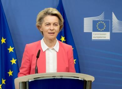 European Commission President Ursula von der Leyen issuing a statement on post-Brexit trade talks today.
