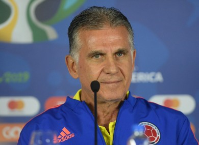 Colombia appointed Queiroz in February 2019.