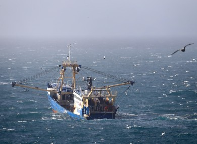 A fishing boat working in the English Channel.