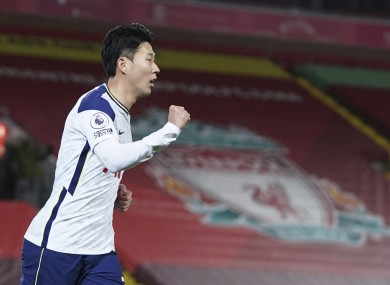 Tottenham's Son Heung-min is the Premier League's joint-top scorer currently.