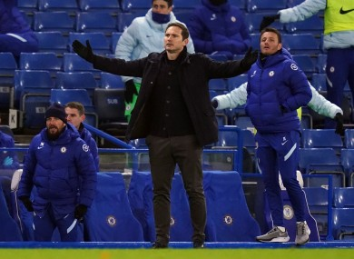 Chelsea boss Frank Lampard during his side's draw against Aston Villa.