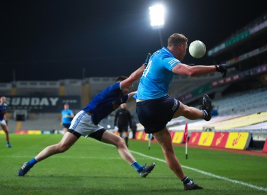 Ciaran Kilkenny attempts a pass.