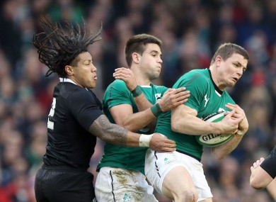 Ma'a Nonu, Conor Murray and Brian O'Driscoll (who all made the Team of the Decade) playing in 2013.