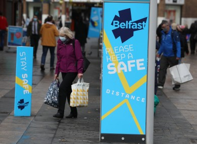 File photo. Shoppers in Belfast city centre.