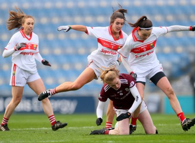 Action from today's All-Ireland semi-final in Croke Park.