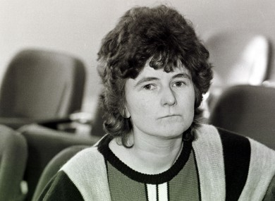 File photo of Joanne Hayes in 1985