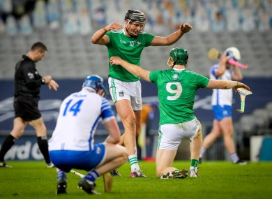 Limerick's Gearoid Hegarty and Will O'Donoghue celebrate as Limerick are crowned All-Ireland hurling champions.