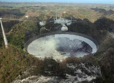Puerto Rico's Arecibo Observatory telescope before its collapse (file photo)