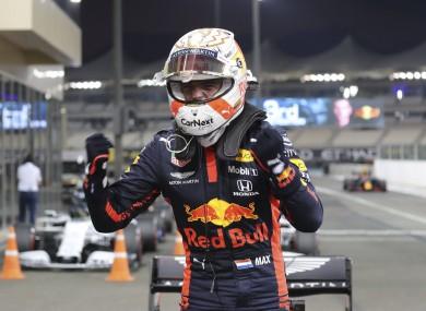 Verstappen celebrates in Abu Dhabi.