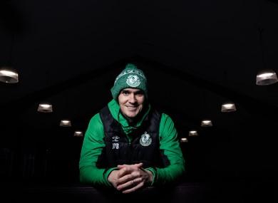 Joey O'Brien at Shamrock Rovers' FAI Cup final media day this week.