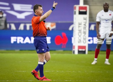 Owens officiating in France's win over Italy.