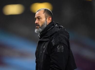 Wolverhampton Wanderers manager Nuno Espirito Santo (file pic).