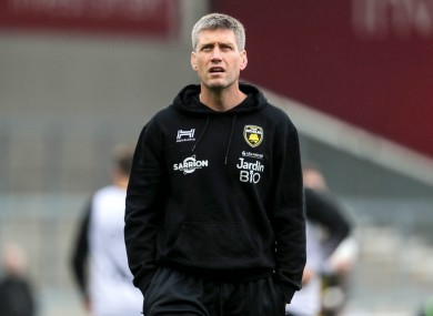 A file photo of O'Gara in charge of La Rochelle.