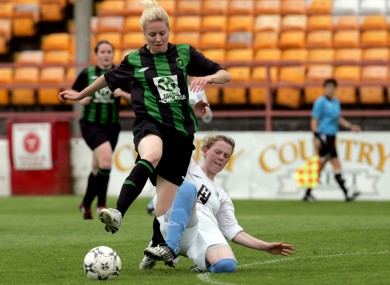 Ruth Comerford pictured playing for Peamount in the 2010 FAI Cup final.