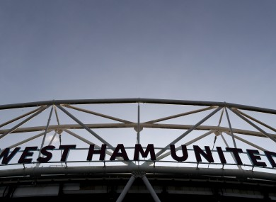 Fans will attend the clash of West Ham and Man United at London Stadium.