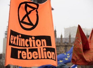Extinction Rebellion is an environmental movement. File photo.