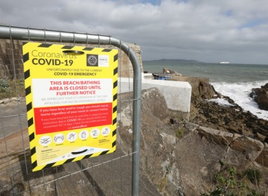 Warning signs at the entrance to the 40 Foot bathing spot (file photo)