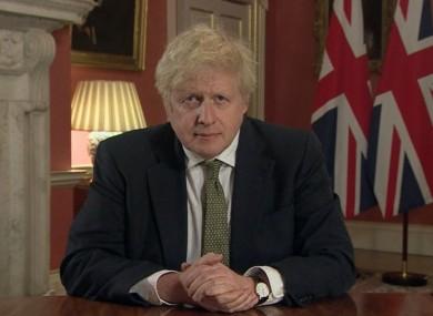 Boris giving the address tonight.