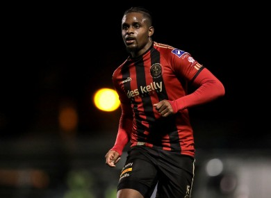 Andre Wright in action for Bohs.