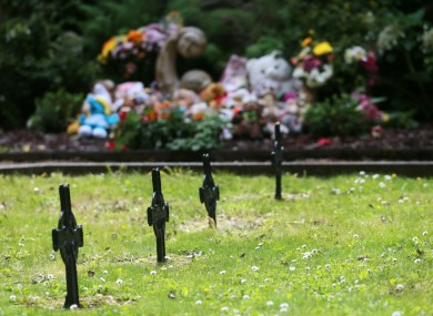 Toys and flowers at the 'Little Angels' memorial plot in the grounds of Bessborough House (file photo).