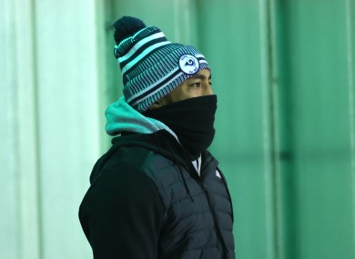 Aki at the Sportsground for Connacht's recent meeting with Ulster.
