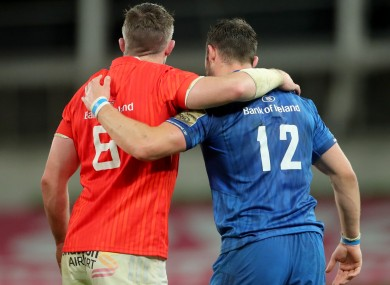 Munster and Leinster will meet in two weekends' time.