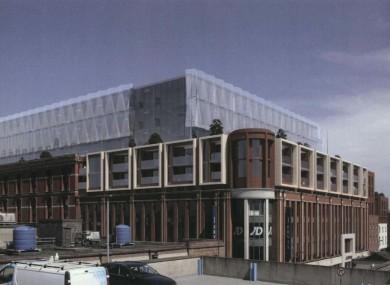 The proposed development atop Dublin's Jervis Centre.