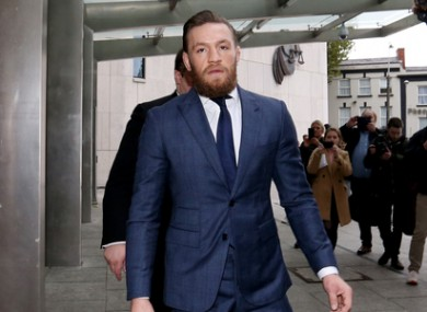 Conor McGregor outside the Criminal Courts of Justice for a separate case in 2019