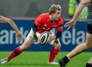Casey has made seven starts for Munster this season.