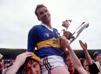 Tipp captain Declan Carr celebrating the Premier's 1991 All-Ireland win.