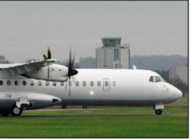 The aircraft involved in the incident, EI-FAW, landed safely after a second attempt.