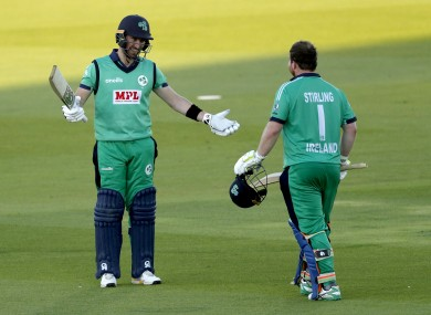 Ireland skipper Andrew Balbirnie and Paul Stirling (file photo).
